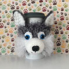 Siberian Husky Gift - Husky Gifts - Siberian Husky Dog - Husky Mom - Husky Mug Cover - Siberian Husky - Dog Mom Gift - Dog Themed Gift by HookedbyAngel