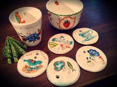 tazas y medallones