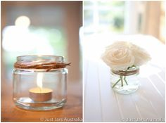 jam jar decorations /wedding reception decoration