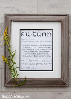 Autumn Printable by
