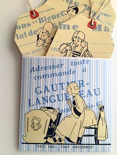 Vintage French Bleuette Doll Clothes Tags