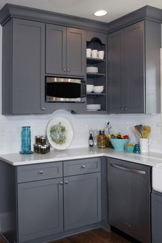 Kitchen of the Week: New Function, Flow — and Love — in Milwaukee  |  Like this color scheme, too!