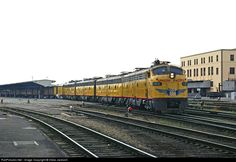 E9 #912 pulling out of Los Angeles Union Passenger Terminal in March of 1971, less than two months before the coming of Amtrak would bring and end to the UP streamliner.