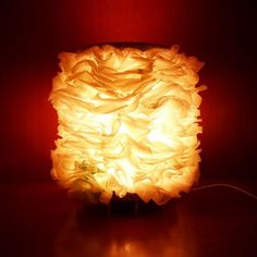 Learn how to make a beautiful lamp upcycling your old plastic bags.