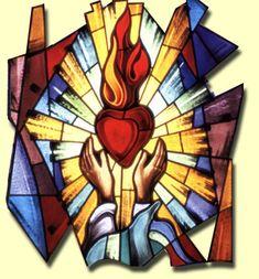 Resultado de imagem para sagrado coração de jesus desenho colorido
