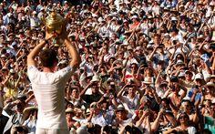 Andy Murray wins Wimbledon 2013 (Photo by Jim White)