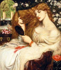 """Lady Lilith,"" by Dante Gabriel Rossetti, Delaware Art Museum    Pre-Raphaelite"