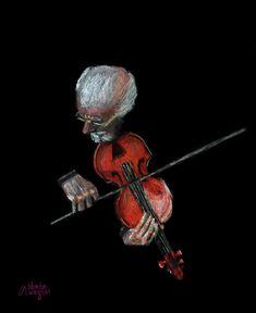 Violin Virtuoso Pastel  - Violin Virtuoso Fine Art Print