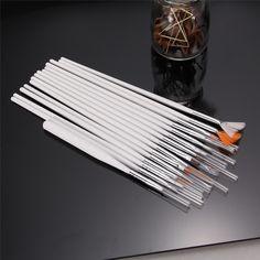 15pcs White Nail Brush Painting Pen Design Tool Set Nail Art UV Gel nail polish for DIY Salon Manicure Nails Tools