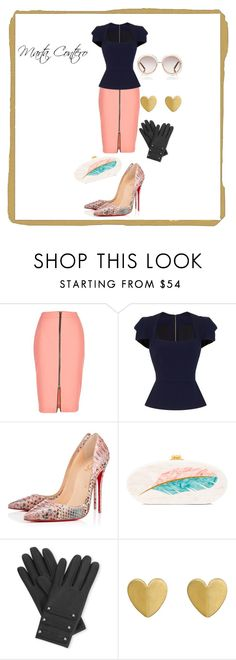 """""""Marta Contero"""" by anamayo on Polyvore featuring moda, River Island, Roland Mouret, Christian Louboutin, Edie Parker, Causse y Chloé"""