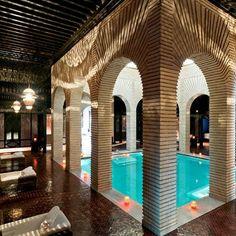 Espace Vitalité Chenot Spa at the luxurious hotel Selman Marrakech in Morocco. Spa Design, Spa Interior Design, Exterior Design, Pictures Of The Week, Room Pictures, Hotel Milano, Mamounia Marrakech, Marrakech Morocco, Spa Luxe