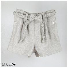 Girls shorts with cute Braided belt!  by OsEstorninhos