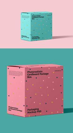 35 New Useful Free PSD Mockup Templates - embalaje Box Mockup, Mockup Templates, Box Packaging Templates, Packaging Boxes, Coffee Packaging, Templates Free, Web Design, Label Design, Packaging Design Inspiration