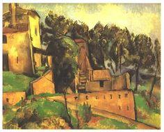The farm of Bellevue - (Paul Cezanne)