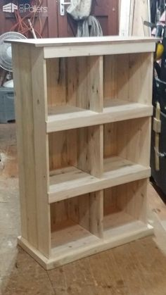 From That... to That... Pallet Bookcases & Pallet Bookshelves Pallet Shelves & Pallet Coat Hangers #palletfurnitureshelves
