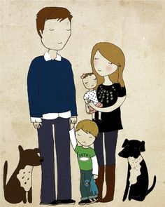 sweet little custom family portraits by NanLawson