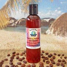 """Dark by Nature"" All Natural Extreme Kona Coffee Indoor/Outdoor Tanning Lotion by Earths Own Bath and Body"