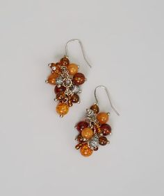 Take a look at this Amber Cluster Earrings by Treska on #zulily today!