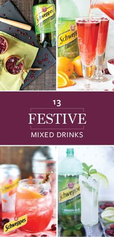 Shake, stir, and sip your way to seasonal deliciousness with the help of these 13 Festive Mixed Drinks for the Holidays. With recipes featuring Schweppes Ginger Ale and Schweppes Sparkling Water, you can create fun and fizzy creations like a Red Wine Spritzer, Ginger Pear Sangria, and more in no time! And by picking up all the ingredients and essentials you'll need at Walmart, becoming the hostess with the most-ess just got a lot easier. What more could you ask for this Christmas?!