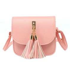 Leather Candy Color Messenger Bag