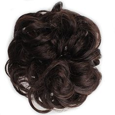 Ladies Synthetic Wavy Curly or Messy Dish Hair Bun Extension Hairpiece Scrunchie…