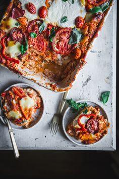 Easy Sweet Bell Pepper Lasagna - Adventures in Cooking