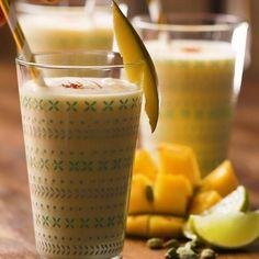 Indian-Style Mango Lassi Recipe by Tasty Smoothies, Smoothie Recipes, Indian Food Recipes, Healthy Dinner Recipes, Cooking Recipes, Fresco, Mango Lassi Recipes, Proper Tasty, Passover Desserts