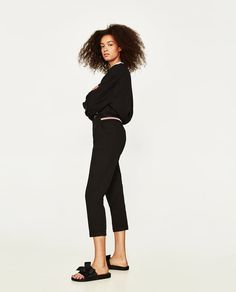 Image 4 of CHINOS WITH ELASTIC WAISTBAND from Zara
