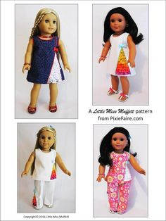 "Frilled To Bits 18"" Doll Clothes Pattern"