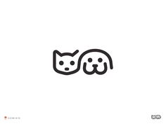 An extensive collection of minimal logo designs, modern logo design, cool logo designs and much more. We have plenty of corporate logo design inspiration. Cat And Dog Tattoo, Dog Tattoos, Cat Tattoo, Ankle Tattoos, Tribal Tattoos, Tatoos, Tattoos Skull, 2 Logo, Logo Branding