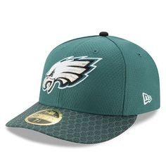 Philadelphia Eagles New Era 2017 Sideline Official Low Profile 59FIFTY  Fitted Hat - Green 38f6bb2bd47