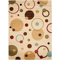 Safavieh Porcello Rectangular Cream Geometric Woven Area Rug (Common: 5-ft x 8-ft; Actual: 5.25-ft x 7.58-ft)