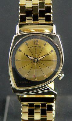 1960 Mens Hamilton Electric Meteor RARE Asymmetrical Wristwatch Deco Mid Century | eBay