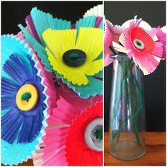 A Childhood List: 118) Baking Cup Paper Flowers
