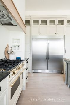 The best large fridge for your kitchen! Designer tips and tricks. This fridge/freezer combo is under $4000! Details included in blog post
