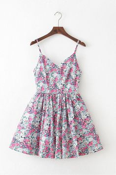Blooming Garden Strap Cute Retro Sundress