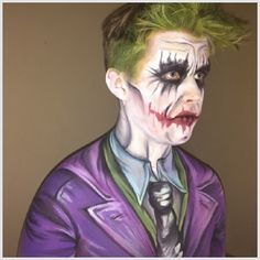 The Joker with Body Art. Adult Face and Body Art in London by Tess of AbFabFaces.co.uk