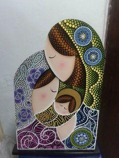 Imagen relacionada Dot Art Painting, Mandala Painting, Stone Painting, Mandala Canvas, Mandala Dots, Rock Crafts, Diy And Crafts, Arts And Crafts, Christmas Rock
