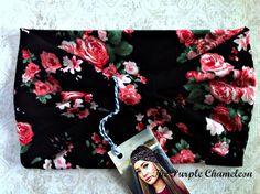 Black Rose Turban WRAPsody Head Wrap by ThePurpleChameleon on Etsy, $16.00 #fall fashion #hair