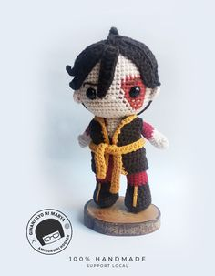 This Zuko Amigurumi doll is inspired from the Avatar The Last Air Bender tv series. Made from milk cotton yarn and is handmade from my own pattern. Pattern will be available soon in my etsy shop.  #Avataramigurumi Crochet Doll Pattern, Crochet Dolls, Crochet Patterns, Amigurumi Doll, Amigurumi Patterns, Sunshine Store, Crochet Monsters, Kawaii Crochet, Crochet Dragon