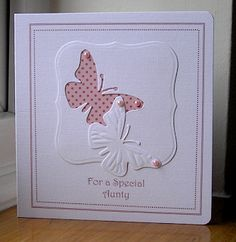 I like both postive and negative punched butterfly  used on this card... (pin only goes to blog not individual post)