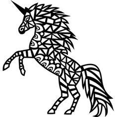 Silhouette Design Store - View Design #179473: tribal unicorn