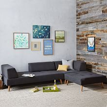 Retro Tillary® 6-Piece Sectional you should check o ut their site, this one, or the larger one could work really well and give you that alternative layout you're after.