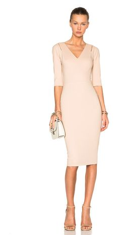 VICTORIA BECKHAM 3/4 sleeve cut out fitted dress found on Nudevotion