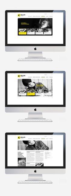 KELLER KIRCHBERG by simon spring, via #Behance #Identity #Webdesign
