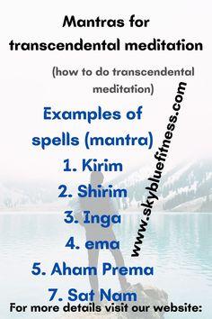 Mantras-for-transcendental-meditation #meditation #mantra #health #transcendental