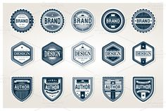 Awesome Badges Template by mikailain on Creative Market