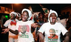 Accra, Ghana: supporters of the president, John Dramani Mahama, celebrate after he was declared the winner of the country's election African Nations, Accra, Ghana, Ronald Mcdonald, Christmas Sweaters, Presidents, Editorial, Politics, Openness