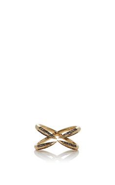 Ring With Brown Diamonds by DIDIER DUBOT BY JULIA RESTOIN ROITFELD for Preorder…