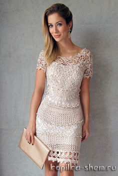 There are some charts for this dress, but what caught my eye was simply inspiration to just put motifs and stitches together to create your own crochet garment. Be fearless! ~CAWeStruck